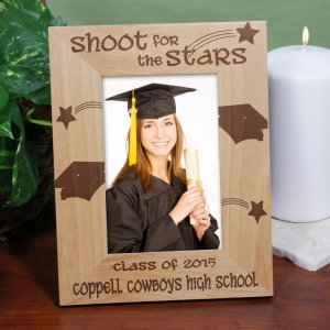 Shoot For The Stars Engraved Graduation Frame