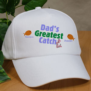 Greatest Catch Personalized Fishing Hat