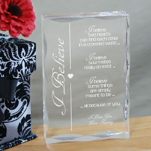 Engraved Valentine Keepsake
