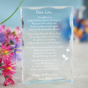 Engraved Daughter Keepsake Block