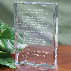 Engraved Even Though I am Little Keepsake