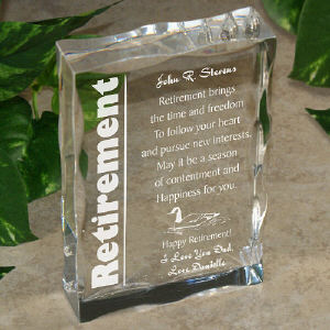 Retirement Keepsake Block