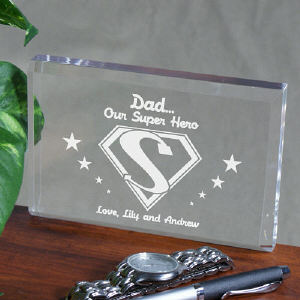 Super Hero Personalized Father's Day Keepsake