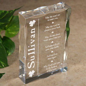 Until We Meet Again...Personalized Irish Blessing Keepsake Block