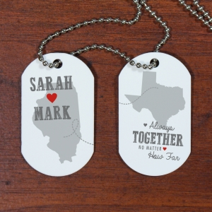 Personalized Relationship Dog Tags | Personalized Long Distance Relationship Gifts