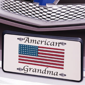 American Flag Personalized License Plate