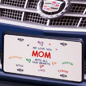 All Our Hearts License Plate