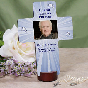 Personalized Memorial Photo Cross