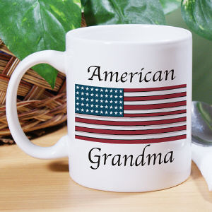 American Flag Personalized Military Ceramic Coffee Mug