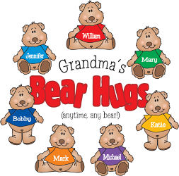 Bear Hugs Personalized Sweatshirt | Personalized Grandma Shirts