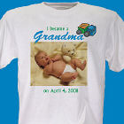 I Became A... New Baby Boy Personalized Photo T-Shirt