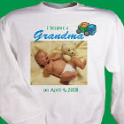 I Became A...New Baby Boy Personalized Photo Sweatshirt