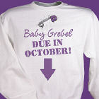 Due in... Maternity Personalized Sweatshirt