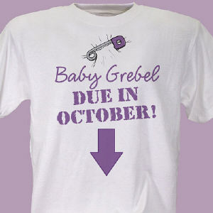Due in... Maternity Personalized T-Shirt