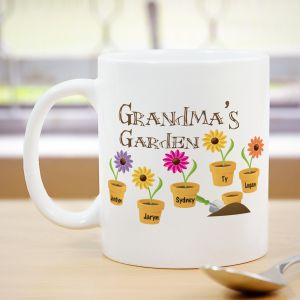Personalized Garden Coffee Mug | Personalized Gifts For Grandma