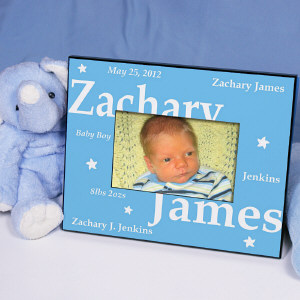 New Baby Boy Printed Frame