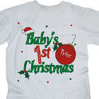 Baby's 1st Christmas Personalized Youth T-Shirt