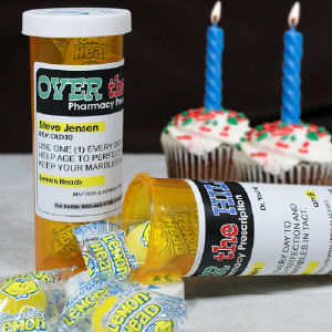 Personalized Birthday Prescription Bottle Set
