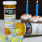 Over The Hill Pharmacy Personalized Birthday Prescription Bottle Set