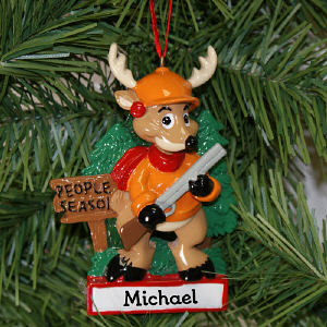 People Season Hunting Personalized Ornament