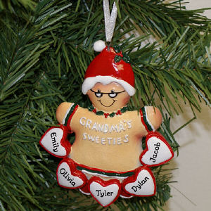 Personalized Grandma's Sweeties Ornament