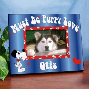 Must Be Puppy Love Printed Picture Frame