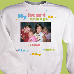 My Heart Personalized Photo Sweatshirt