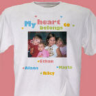 My Heart Personalized Photo T-Shirt
