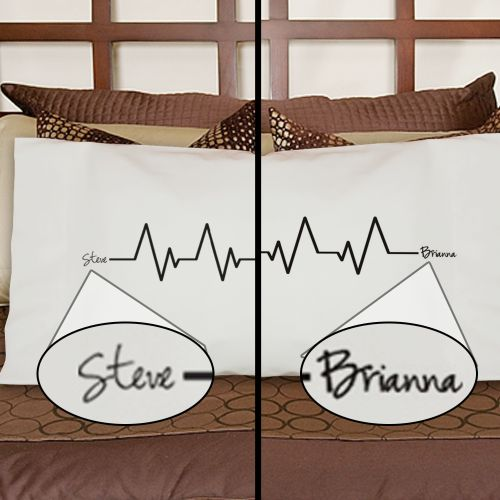 Heart Beats As One Personalized Pillowcase Set 83032430