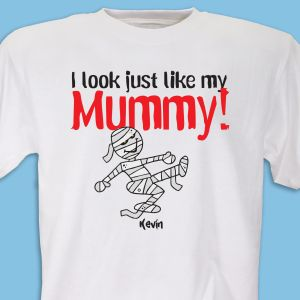 Look Like Mummy Personalized Halloween Youth T-shirt