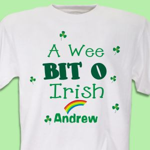 A Wee Bit O Irish Youth T-shirt
