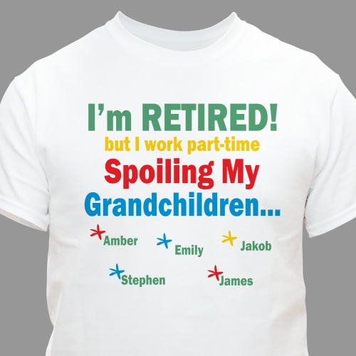 Personalized Grandpa Retirement Shirt | Grandparents T Shirts