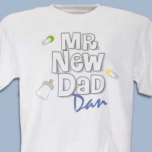 Mr. New Dad Personalized T-Shirt