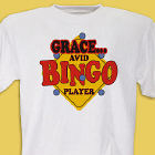 Avid Bingo Player Personalized  Adult T-shirt