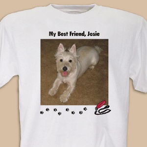 My Best Friend Dog Personalized Photo T-shirt