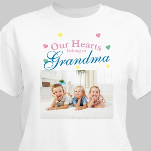 Our Hearts Personalized Photo T-shirt