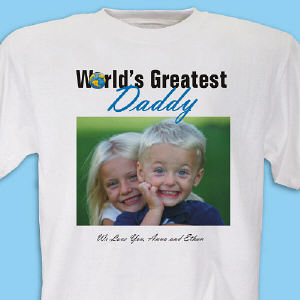 World's Greatest Personalized Photo T-shirt