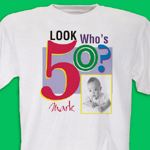 Look Who's ? Birthday Personalized Photo T-shirt