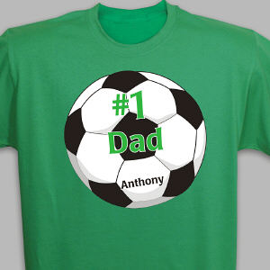 Personalized Soccer Fan Adult T-shirt