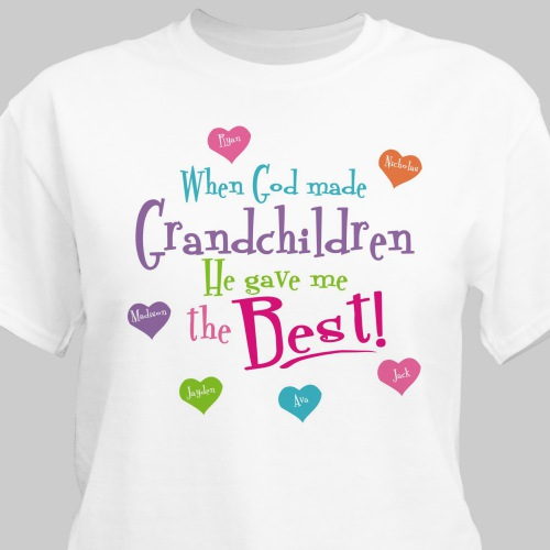 God Gave Me the Best Personalized T-shirt | Personalized Grandma Shirts