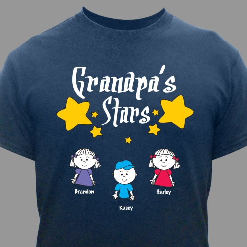 My Stars Personalized T-Shirt | Grandpa Shirts