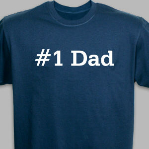 Number One Dad Personalized Adult T-shirt