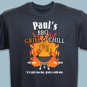 Personalized Grillers T-shirt