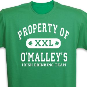 Property of Irish Drinking Team Personalized T-shirt