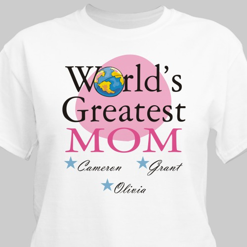 Custom Printed World's Greatest Mom T-shirt