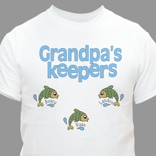 Personalized Keepers T-shirt | Personalized Gifts For Grandparents