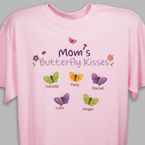 Butterfly Kisses Personalized T-shirt | Personalized Grandma TShirts