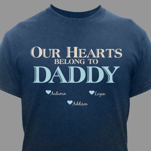 Personalized Our Hearts Belong To Him T-Shirt | Dad Shirts