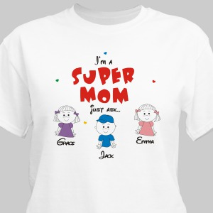 Personalized Super Mom T-shirt