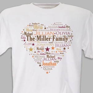 Heart Word-Art T-Shirt | Personalized Word Art